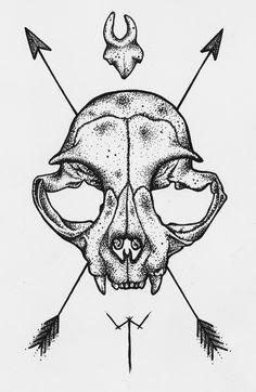 animal skull tattoo   Tumblr