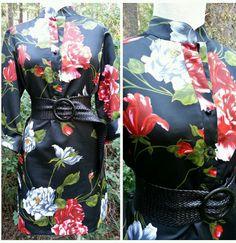 Tunic Dress Size Large MOD Mini Malbe Vintage 60s Asian Kimono Top Blouse #Malbe