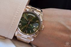 Rolex Day-Date 40, Everose gold, olive green dial, Colours of Rolex