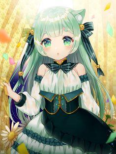 Chibi Neko, Anime Girl Neko, Kawaii Chibi, Anime Girl Cute, Manga Anime, Anime Art, Anime Girls, Manga Art, Loli Kawaii
