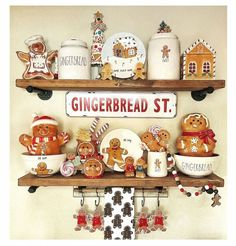 Gingerbread Christmas Decor, Candy Land Christmas, Gingerbread Crafts, Gingerbread Decorations, Christmas Mood, Christmas Kitchen, Merry Little Christmas, Christmas Themes, Christmas Crafts