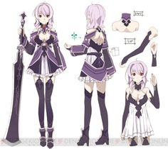 Character design by abec for Infinity Moment Strea in Lost Song Sword Art Online, Online Art, Sao Characters, Female Characters, Character Concept, Character Art, Concept Art, Anime Dress, Kawaii