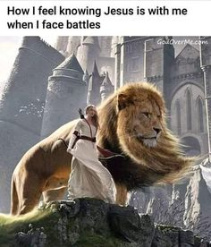 How I feel knowing Jesus is with me when I face battles - iFunny :) Prayer Quotes, Bible Verses Quotes, Jesus Quotes, Bible Scriptures, Encouragement Quotes, Funny Christian Memes, Christian Humor, Christian Life, Christian Girls