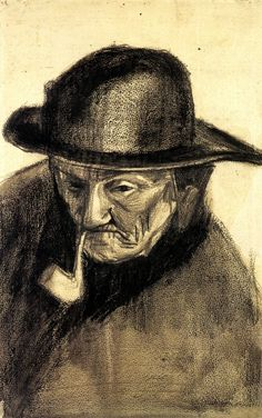 Head of a Fisherman with a Sou'wester, 1883  Vincent van Gogh