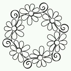 Gerber Daisy Block - Digital - Quilts Complete - Continuous Line Quilting… Hungarian Embroidery, Brazilian Embroidery, Paper Embroidery, Hand Embroidery Patterns, Embroidery Stitches, Quilt Patterns, Embroidery Designs, Flower Patterns, Folk Embroidery