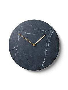 Marble Wall Clock, Black