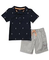 Carter's Baby Set, Baby Boys Polo Shirt and Shorts