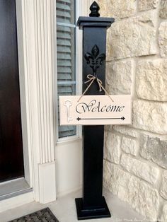 Our Home Away From Home: DIY WELCOME PORCH POST