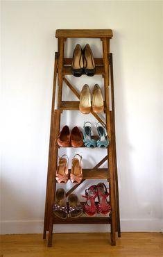 former ladder wooden 4 steps decoration pinterest restaurer meuble escabeaux et meuble bois. Black Bedroom Furniture Sets. Home Design Ideas