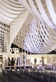inspiration_Paper Space installation by Studio Glowacka + Maria Fulford Architects for Design 2013 Paper Architecture, Beautiful Architecture, Interior Architecture, Interior Design, Scandinavian Architecture, Paper Installation, Ceiling Installation, Espace Design, Plafond Design