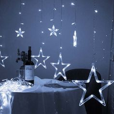 Twinkle Star 12 Stars 138 LED Curtain String Lights, Window Curtain Lights with 8 Flashing Modes Decoration for Christmas, Wedding, Party, Home Decorations (Warm White) Home Decor Online Shopping, Home Decor Sale, Ramadan Decorations, Christmas Decorations, Home Furniture Online, Curtain Lights, Twinkle Star, Hanging Curtains, String Lights