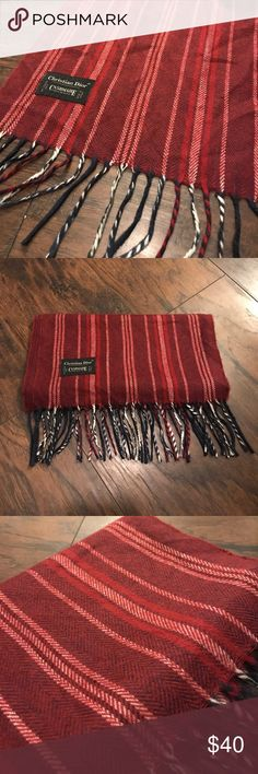 """Christian Dior """"Cashmaire"""" 🎩 Elevate any outfit with dapper colors and sophisticated style.  Vintage Christian Dior men's scarf Christian Dior Accessories Scarves"""