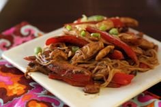 Thai Chicken Noodles (233 calories, 6 weight watchers pts+/serving)