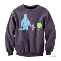 Monsters inc. Sweatshirt I just I want it all ❤ liked on Polyvore featuring tops, hoodies, sweatshirts, sweaters, shirts, jumpers, inc international concepts shirts, inc international concepts, purple sweatshirt and purple shirt