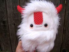 cute monster plush toy, stuffed Yeti. $30.00, via Etsy.