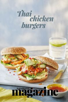 Our quick and easy Thai chicken burgers are ready to serve in under 30 minutes.
