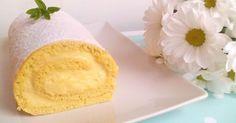 Vete preparando el café para acompañar esta delicia que nos traen desde el blog FÁCIL CON BELA: un brazo de gitano de bizcocho genovés relleno de crema pastelera.