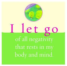 no negativity~Its gone, tx god~