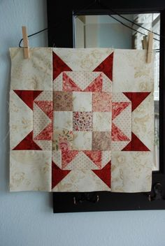 Beauteous star block from Sarah Murray of Anyone Can Quilt. Tutorial after link.