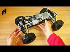 In this video you can watch a building guide for my own Lego Technic terrain car platform, that could be used for some terrain truck, buggy or another car-ty. Lego Truck, Lego Car, Lego Projects, Science Projects, Lego Mecha, Lego Instructions, Cool Lego, Lego Creations, Legos