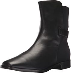 """Leather, Imported, Leather and Rubber sole, Shaft measures approximately 8"""" from arch, Boot opening measures approximately 11.5"""" around 6 and ½ inch shaft height, 10 inch circumference Leather lining, cushioned insole, Leather and rubber outsole, 1 inch stacked heel Square toe. Mid Calf Boots, Suede Ankle Boots, Black Leather Boots, Black Ankle Boots, Shoe Boots, Equestrian Boots, Western Boots, Stylish Boots For Women, Viking Shoes"""