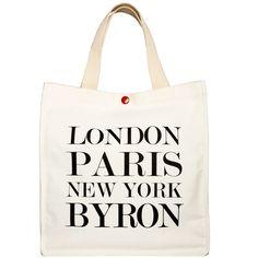 London, Paris, New York, Byron tote | hardtofind.