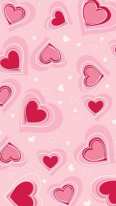 Wallpaper ~ Pink & red hearts