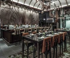 AMMO Restaurant || The famous AMMO restaurant in Hong Kong by interior designer Joyce Wang. Click image for more