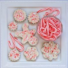 Peppermint Bark Cutouts that you can make yourself!