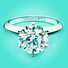 Round Solitaire Diamond Engagement Ring from Tiffany and Co. Doesn't have to be big. Not even from Tiffany. Tiffany Engagement, Platinum Engagement Rings, Solitaire Engagement, Tiffany Wedding, Tiffany And Co, Tiffany Blue, Tiffany Outlet, Tiffany Shop, Rings Tumblr