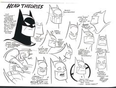 Batman: The Animated Series Head Theories by Bruce Timm. Timm is a character designer, animator and producer. He is also a writer and artist working in comics, and is known for his contributions building the modern DC Comics animated franchise. Previous to this, he worked for Filmation on the Blackstar, Flash Gordon, and He-Man series; for Marvel on the original G.I. Joe series; and for Warner Bros. on Tiny Toon Adventures.
