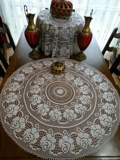 Home Decor Crochet Patterns Part Crochet Bolero Pattern, Crochet Tablecloth Pattern, Free Crochet Doily Patterns, Baby Patterns, Lace Doilies, Crochet Doilies, Crochet Flowers, Crochet Table Topper, Crochet Table Runner