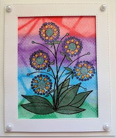 Inky Finger Zone: Lynell Watercolor Cards, Watercolour, Mists, Bubbles, Bloom, Ink, Crayons, Creative, Flowers
