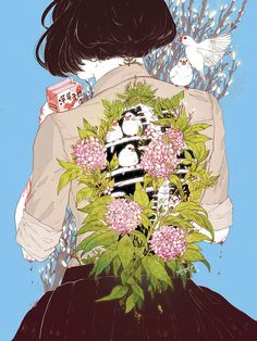 Aster Hung is a Taiwanese-American Illustrator recently graduated from the Maryland Institute College of Art (MICA Her illustrations aim to capture fantastical spaces, light, and beauty within the unsettling. Her shops: and Inprnt. Anime Kunst, Anime Art, Art And Illustration, Bel Art, Art Magique, Drawn Art, Land Art, Art Inspo, Art Reference
