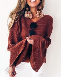 Cute and casual outfit ideas for women fashion, bell sleeve
