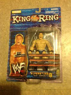 WWF Ken Shamrock king of the ring figure. Wwf Superstars, Wrestling Superstars, Wwe Toys, Hulk Hogan, Professional Wrestling, The Rock, Action Figures, Attitude, King