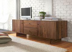 "Hudson Media Cabinets with Wood Base - Media Storage - Living - Room & Board 84""wide, 20deep"