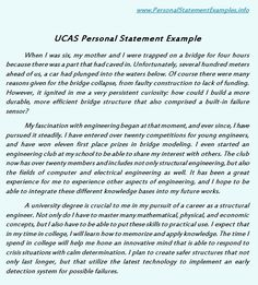 UCAS Personal Statement Examples Serves The Basic Need  Http://www.personalstatementsample.  Example Of Personal Statement