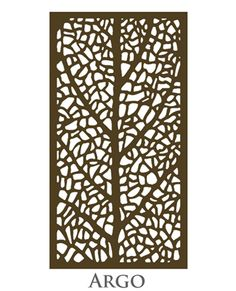 Our Argo design has a complex organic leafy texture making it ideal for use in gardens and around fences. This is one of our more complex designs and it has proved extremely popular with both architects and interior designers alike. Laser Cut Screens, Laser Cut Panels, Aluminum Screen, Metal Screen, Glass Painting Designs, Paint Designs, Laser Cut Patterns, Decorative Screens, Geometry Art