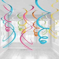 Spirales Multicolores à Suspendre - 55 cm