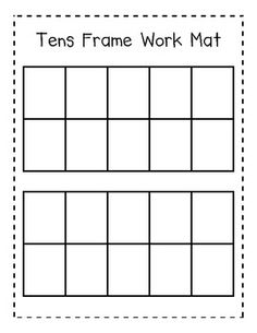 Here's a useful tens frame work mat to help in counting objects to 20.