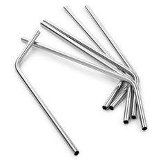 Sur La Table Stainless Steel Straws, Set of 6   Sur La Table