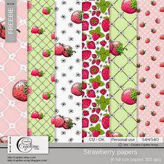 CAJOLINE-SCRAP: Freebie - Strawberry papers CU