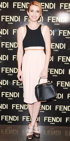 Look of the Day - May 2, 2014 - Emma Roberts in Fendi from #InStyle