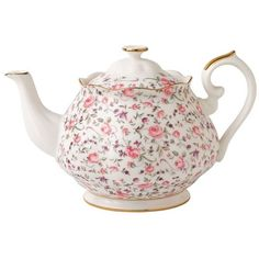 Royal Albert Rose Confetti Vintage Teapot ($64) ❤ liked on Polyvore featuring home, kitchen & dining, teapots, home decor, decor, extras, food, backgrounds, filler and pink tea pot