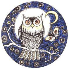 OWL NIGHT~original owl painting~