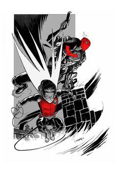 Red Hood and Robin - Damian by Dan Mora *