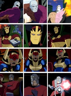 Miracle , Big Barda and Orion - Justice League Unlimited Dc Comics, Superman The Animated Series, Big Barda, Jack Kirby Art, Justice League Unlimited, Fourth World, Super Hero Outfits, Bruce Timm, Dc Heroes