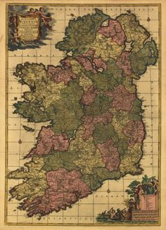 Map Of UK And Ireland   Map of UK Counties in Great Britain     Old Map of Ireland
