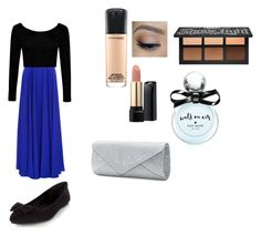 """casual prom look"" by stellapavao on Polyvore featuring Milly, Boohoo, MAC Cosmetics, Kat Von D, Lancôme, Kate Spade and Mascara"